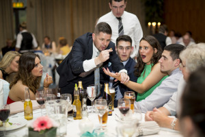 Keeping wedding guests entertained with Magician Gerard Kearney